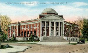 Postcard: Alabama Union Building (Reese Phifer Hall)